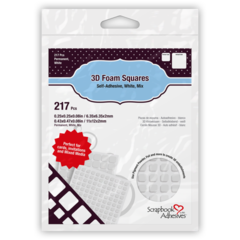 3D Foam Squares - White Mix
