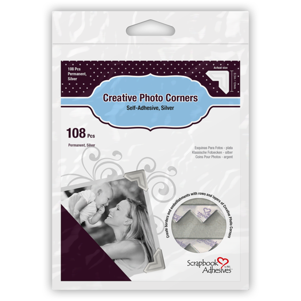 Creative Photo Corners - Silver