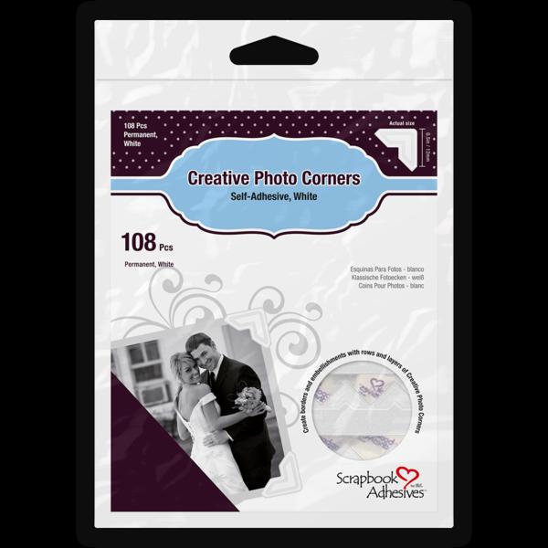 Creative Photo Corners - White