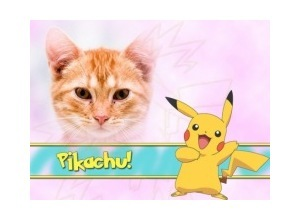 Moldura - Pikachu