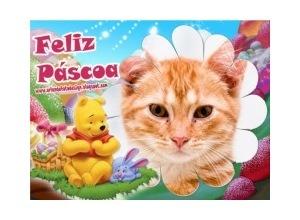 Moldura - Pascoa Pooh