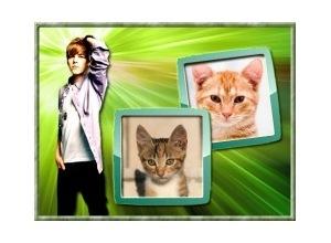 Moldura para duas Fotos - Justin Bieber 2 Fotos