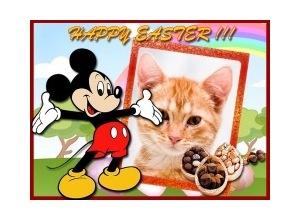 Moldura - Feliz Pascoa Mickey