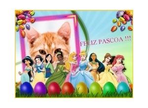 Moldura - Feliz Pascoa Princesas