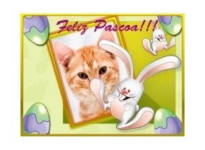 Moldura - Feliz Pascoa Coelhinho
