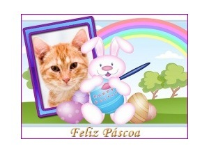 Moldura - Feliz Pascoa Coelhao