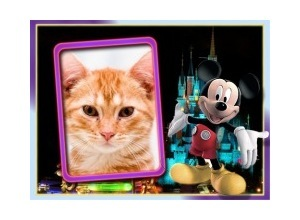 Moldura - Mickey Mouse E Castelo