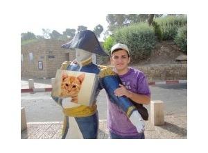Montagem de foto Estatua em Jope Israel