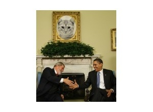 Photomontage Obama e Lula