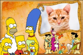 Moldura - Simpsons Vs Flinstones