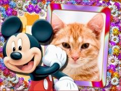 Moldura - Mickey Mouse Feliz