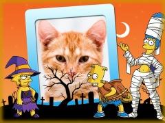 Moldura - Halloween Os Simpsons
