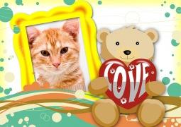 Moldura - Ursinho Love