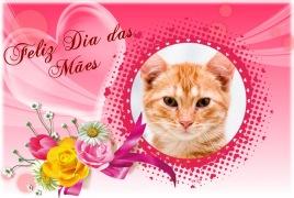 Moldura - Feliz Dia Das Maes Com Flores