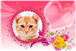 Moldura - Moldura De Amor Com Flores