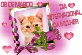 Moldura - Dia Da Mulher Com Buque De Rosas