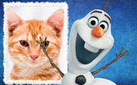 Moldura - Olaf Do Filme Frozen