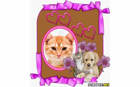 Moldura - Cachorro E Gato