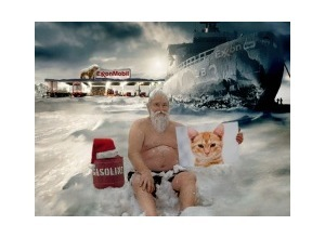 Photomontage Homeless Santa