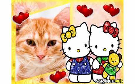 Moldura - Hello Kitty