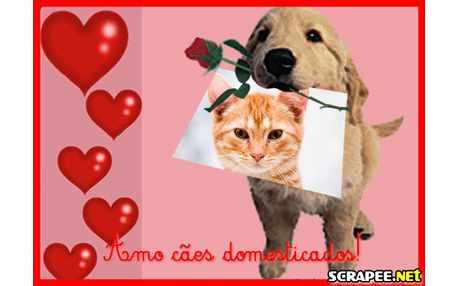 Moldura - Amo Cachorrinhos