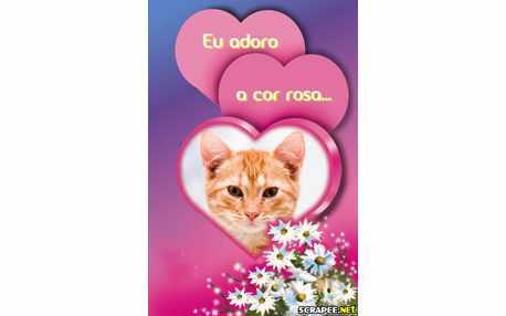 Moldura - Adoro Rosa