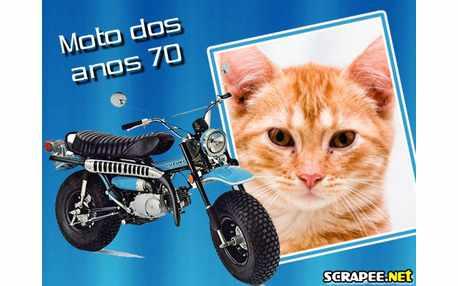 Moldura - Moto Anos 70