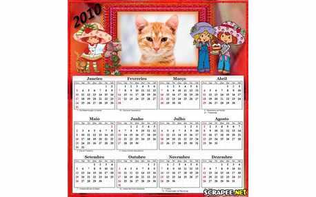 Moldura - Calendario Da Moranguinho