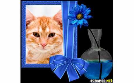Moldura - Vaso Azul