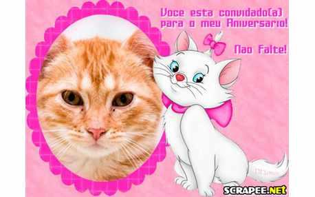 Moldura2241 convite da gatinha