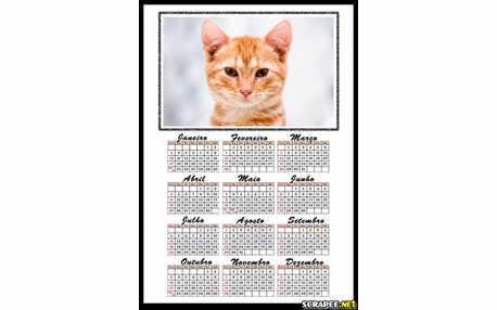 Moldura - Calendario Simples