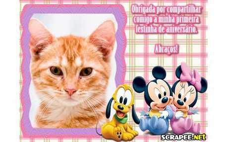 Moldura - Lembrancinha De 1 Ano Da Baby Disney