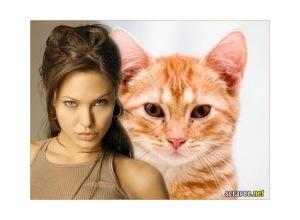 Moldura - Angelina Jolie Famosa
