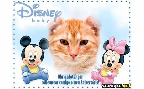 Moldura - Lembrancinha De Aniversario Do Baby Disney