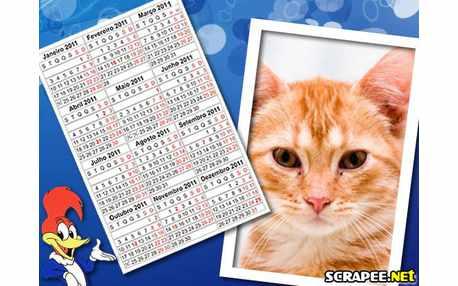 Moldura - Calendario 2011 Do Pica Pau