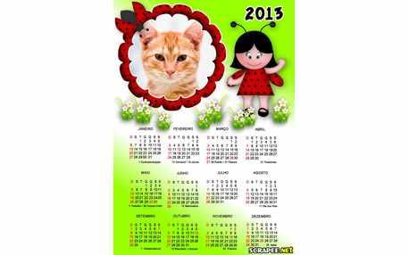 Moldura - Calendario Da Joaninha