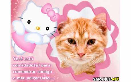 Moldura - Convite Da Hello Kitty