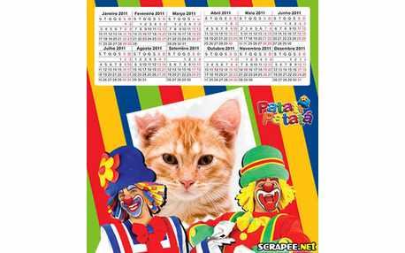 Moldura3012 calendario de palhaco