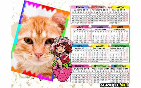 Moldura - Calendario 2011 Da Moranguinho