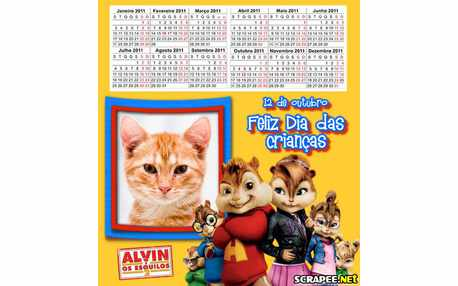 Moldura - Calendario Do Dia Das Criancas