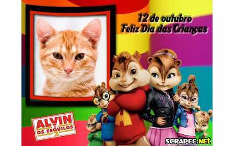 Moldura - Elvin No Dia Das Criancas