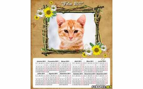 Moldura - Calendario De Feliz Ano Novo