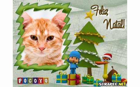 Moldura - Natal Pocoyo