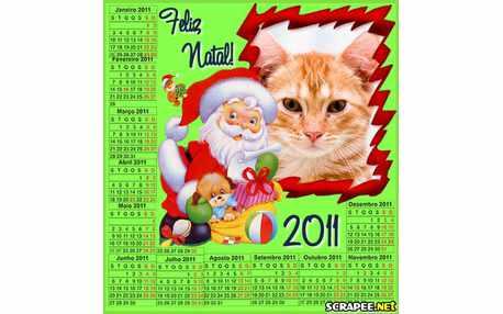 Moldura3315 calendario 2011 de natal