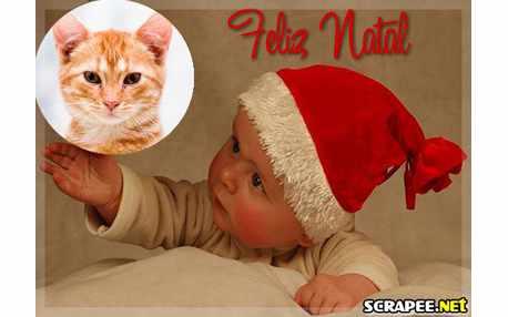 Moldura - Papai Noel Bebe