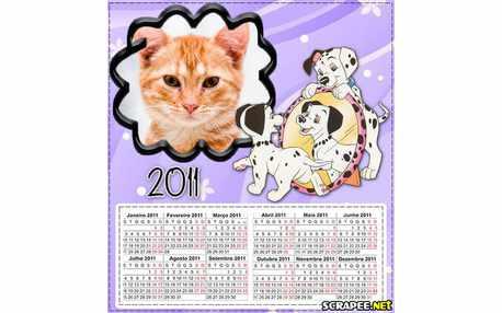 Moldura - Calendario Dalmatas