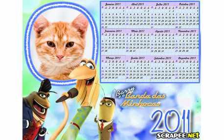 Moldura - Calendario Barry E A Banda Das Minhocas