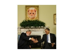 Photomontage Lula and Barack Obama