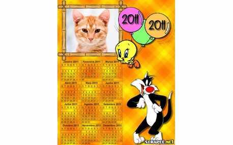 Moldura - Calendario Do Piu Piu