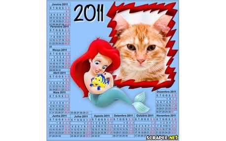 Moldura - Calendario Da Pequena Sereia
